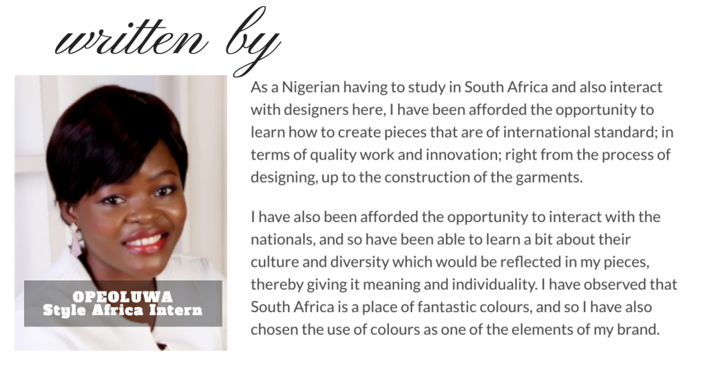 The Expoits of South African Design - The Global Influence of South African Designers - The Global Inflluence of South African Designers - Style Africa - Opeoluwa Dele-Ige